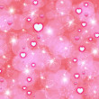 Abstraction pink background  with hearts — Stock Photo