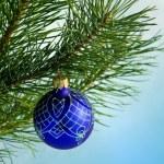 Glass ball on christmas tree — Stock Photo #36019813
