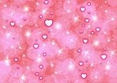 абстракция розовый фон с сердечками — Стоковое фото