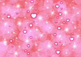 Abstraction pink background with hearts — Stockfoto
