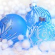 Christmas blue ball — Stock Photo #36174753