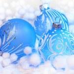 Christmas blue ball — Stock Photo