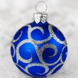 Stock Photo: Christmas blue ball