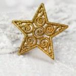 Christmas golden star — Stock Photo #36175107