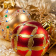Stock Photo: Christmas red ball