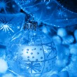 Christmas blue ball — Stock Photo