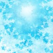 Blue background with snowflakes — Stockfoto