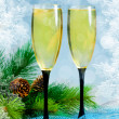 Champagne glasses — Stock fotografie