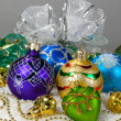 Christmas vibrant balls — Stock Photo