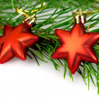 Christmas  red stars — Stock Photo