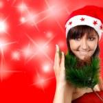 Young Santa woman — Stock Photo #36177941