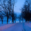 Winter night cityscape — Stock Photo