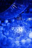Niebieski bombki — Zdjęcie stockowe