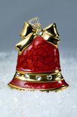 Boże narodzenie czerwony dzwon — Zdjęcie stockowe