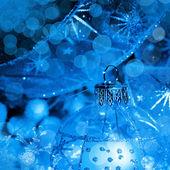 Gwiazdkowa niebieska kulka — Zdjęcie stockowe