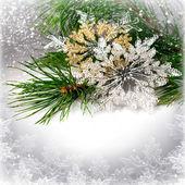 Weihnachten schneeflocken — Stockfoto