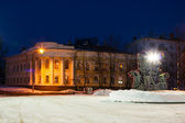 Winter night in Kostroma city — Stock Photo