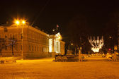 Winter night in Kostroma — Stock Photo
