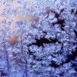 Frosty winter glass — Lizenzfreies Foto