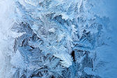 Frosty winter glass — Stock Photo