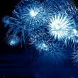 Blue firework — Stockfoto