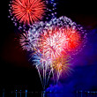 Celebratory bright firework — Stockfoto