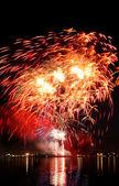 Celebratory bright firework — Stock Photo