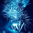 Blue firework in a night sky — Stock Photo