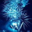 Blue firework in night sky — Stock Photo #36406223