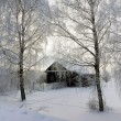 Old wooden house, winter — Stock Photo