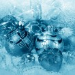 Blue Christmas decorations — Stock Photo #36410835