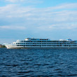 Cruise ship in a Volga river — Stock Photo