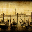 Retro card , old italian Venice — ストック写真
