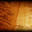 Old papyrus with calligraphy — Stock Photo #36420069