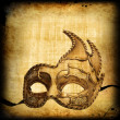 Retro postcard with venetian mask — Stock Photo #36420083