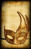 Retro postcard with venetian mask — Stock Photo