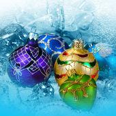 Noel topları süslemeleri — Stok fotoğraf