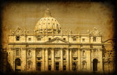 Retro card with italian architecture of Vatican — Stock Photo