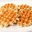 Tasty baking - waffle — Stock Photo