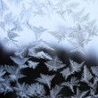 Texture of nature - ice on glass — Foto Stock