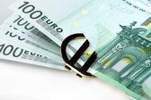 Euro de dinheiro — Foto Stock