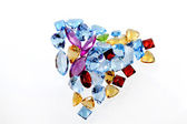 Luxus Farbe Edelsteine auf weißem Hintergrund — Stockfoto