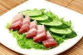 Bacon och grön gurka — Stockfoto