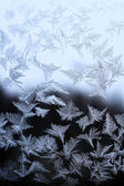 Texture of nature - ice on glass — Stock Photo