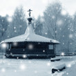 Chapel in cold day — Stock Photo
