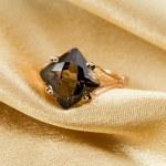 Elegant jewelry ring with jewel stone — Stock Photo