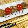Barbecue of  grill meat balls — Stock Photo
