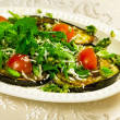 Baked aubergines — Stock Photo