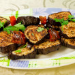 Barbecue of  grill aubergine — Stock Photo