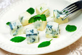Italian cheese gorgonzolla — Stock Photo